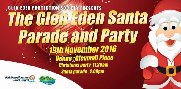 Glen Eden Santa Parade and Party 2016